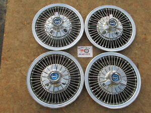 1967 Ford Mustang Fairlane Falcon 14 Wire Spinner Wheel Covers Hubcaps Set 4