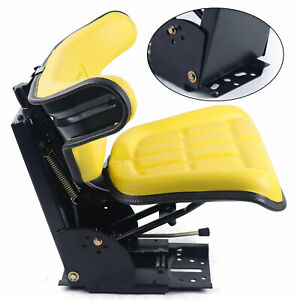 Yellow Fits For John Deere 1020 1530 2020 2030 Tractor Waffle Suspension Seat