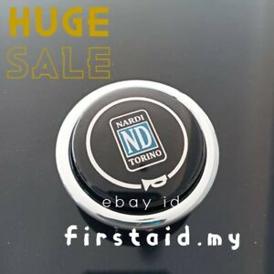 Black Horn Button Torino Classic Single Contact Fits Most Nardi Steering Wheels