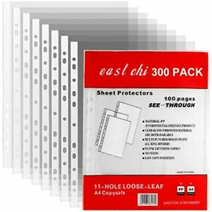 Lishine Top Loading Sheet Protectors 8 5 X 11 Inch 300 Pack Plastic Clear Page