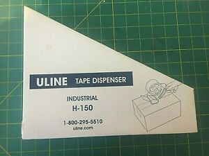 New Uline Tape Dispenser H 150 2 Side Load Industrial Packing Gun Shipping Tape
