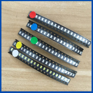 500pcs Smd Led Kit 1206 0805 0603 Red Green Blue White Yellow 5 X 100pcs Pack