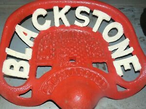 2nd Vintage Blackstone Stamford Cast Iron Tractor Implement Seat Collectibles