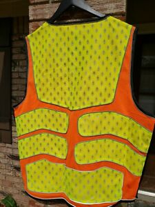 Coumiee Safety Vest Road Work Traffic Reflective Caution Vest Adjustable Sz Xl