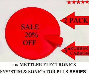 Rubber Electrode For Mettler Electronics Sys stim Sonicator Plus Series 2 pack