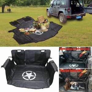Rear Bench Floor Safety Mat Storage Cargo Liners For 2007 2018 Jeep Wrangler Jk