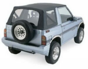Rampage For 1995 1998 Geo Tracker Soft Top Oem Replacement Black Denim