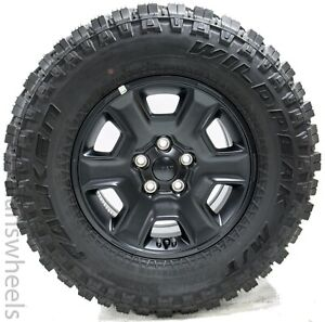 4 New 2021 Jeep Gladiator Rubicon 17 Black Factory Oem Wheel Rims Falken Tire
