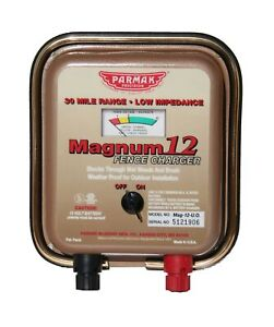 Parmak Precision Portable Magnum Fencer 4 12 Volt Solid State Circuitry Mag12uo