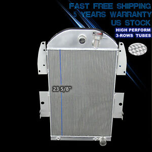 3436ch 3 Row Aluminum Radiator For 1934 1936 Chevrolet Pickup Truck 3 4 V8 At Mt