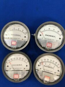 Used Lot Of 4 Magnehelic 15 Psi Gauge 4 Inches Of Water 2002 2002c 2010 2025