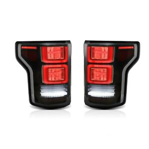 Full Led Smoked Taillights W Red Turn Sig For 15 20 Ford F 150 All Trims 2 Gen