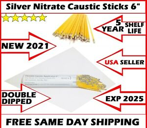 100ps New Bray 2021 6 Caustic Silver Nitrate Applicators Sticks Factory sealed