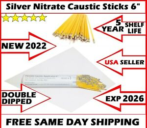 10ps Silver Nitrate Applicator Sticks 6 Warts Removal Petnail Double Dipped