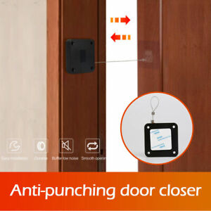 Punch free Automatic Door Closer Sensor Auto For Home Kitchen Doors Security New