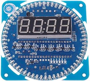 Diy Ds1302 Rotating Led Electronic Digital Clock Kit 51 Mcu Learning Board