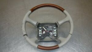 Chevrolet Gmc Tahoe Suburban Yukon Steering Wheel 98 02 Leather Wood