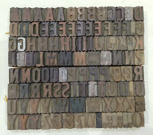 Vintage Letterpress Wood wooden Printing Type Block Typography 111 Pc 26mm tp12