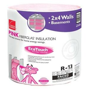 Owens Corning Rf10 Ecotouch 15 In X 32 Ft R13 Fiberglass Faced Insulation Roll