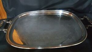 Vintage Sheridan Silver Plated Serving Tray With Handles
