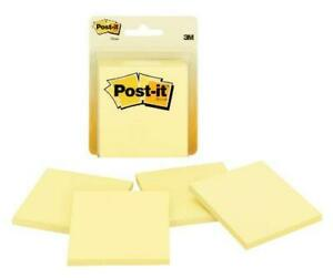 Post it Notes 3x3 In 4 Pads America s 1 Favorite Sticky Notes Canary
