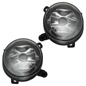 New Pair Set Fog Lights Round Lens Lamps For Audi A4 A4 Allroad S4 Q5 Sq5 A6