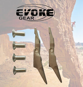 Replacement Gaffs For Pole Climbing Spikes Spurs Set With Screws Evoke Gear