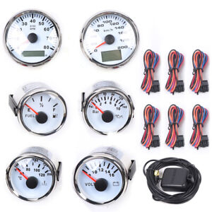 6 Gauge Set Electronic Speedometer Instrument Kit Lcd Display For Car Boat Truck