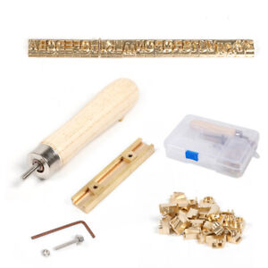 26pcs Brass Letters Logo Alphabets Mold A z For Hot Foil Stamping Machine New