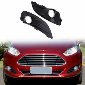 For Ford Fiesta 2012 2013 2014 2015 2016 Front Bumper Grilles Fog Lights Cover