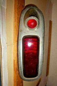 Vintage 1940 Buick Tail Light Glass Lens Nu 1 With Housing