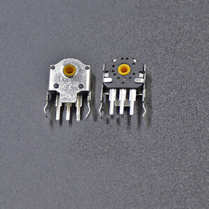 1pair Durable Ttc Mouse Encoder Yellow Roller Wheel Mouse Repair Accessary