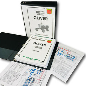Oliver 1755 1855 1955 2255 Tractor Service Manual Repair Shop Technical Workshop