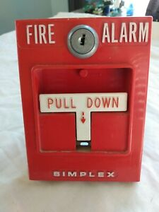 Simplex 2099 9795 Addressable Single Action Manual Pull Station Fire Alarm