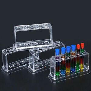Plastic Clear Test Tube Rack 6 Holes Stand Lab Test Tube Stand Shelf Mn
