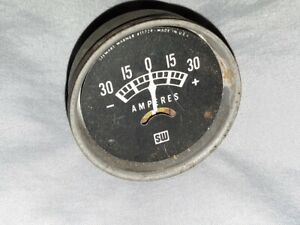 Vintage Stewart Warner Amp Gauge Amperes Hot Rod Usa