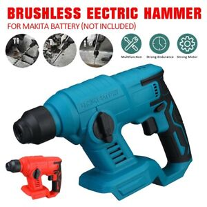 Cordless Brushless Sds Plus Rotary Hammer Drill Body 1400rpm For Makita Battery