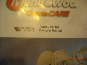 National Owners 800d Crane Service Book Manual