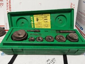 Greenlee 1806 Electrical Ratchet Knockout Puller Punch Set 1 2 To 2 As Is 9046