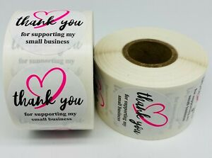 1000 1 5 Round Thank You For Supporting My Small Business Mailing Labels