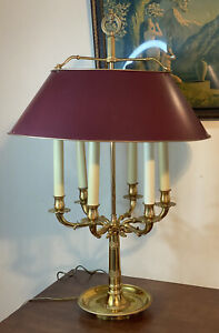 Exquisite French Empire Bronze Brass Swan Tole Bouillotte Lamp 32 Chapman Stlw