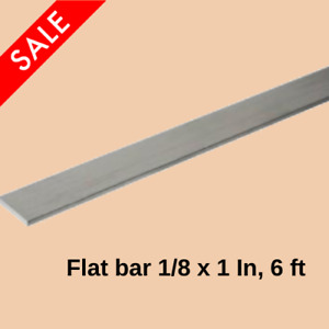 Aluminum Flat Bar Stock 1 8 Inch X 1 Inch X 6 Ft Unpolished Alloy Extruded New