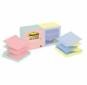 Post it Pop up Notes Alternating Marseille Colors 3 X 3 12 pack