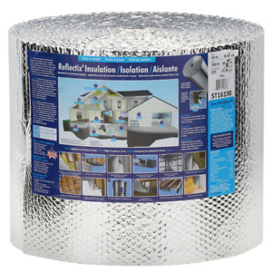 Double Reflective Insulation Roll With Staple Tab Edge 16 24 48in X 25 100ft