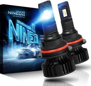 Nineo 9007 Led Bulbs Cree Chips Halogen 6500k Extremely Bright All in one