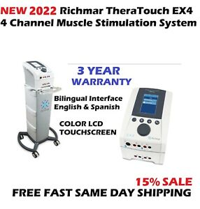 New 2021 Richmar Theratouch Ex4 4 channel Muscle Stimulation Electrotherapy Unit