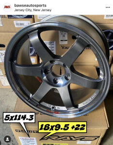 Volk Racing Te37sl Pressed Graphite 18x9 5 22 5x114 3 In Stock