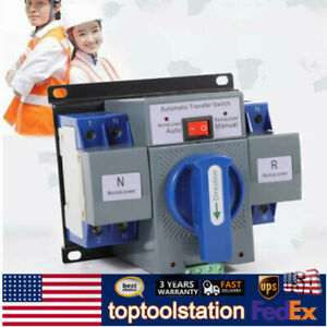 Automatic Transfer Switch Dual Power Generator Changeover Manual Switch 2p 63a