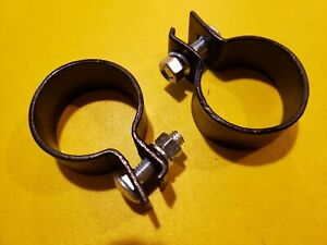 1936 48 Lincoln V12 Exhaust Pipe To Muffler Clamps 2ea H 5251 Zephyr Flathead