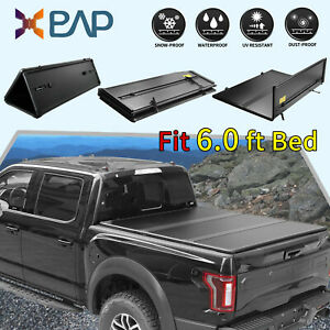 For 2019 2020 Ford Ranger Truck 6 Bed Hard Tri Fold Tonneau Cover